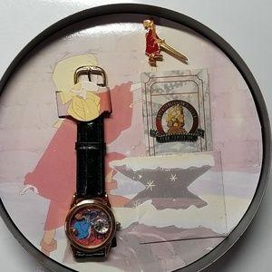 VINTAGE Disney Sword in the Stone watch pin